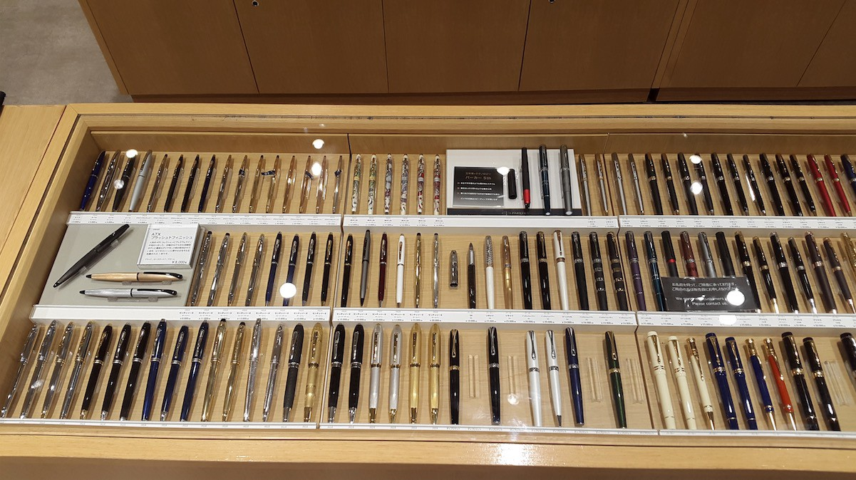 7e1aaff8781ed Hundreds of pens of every kind are available in desk area F3