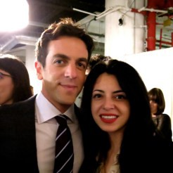 B.J. Novak and Sara Ortiz