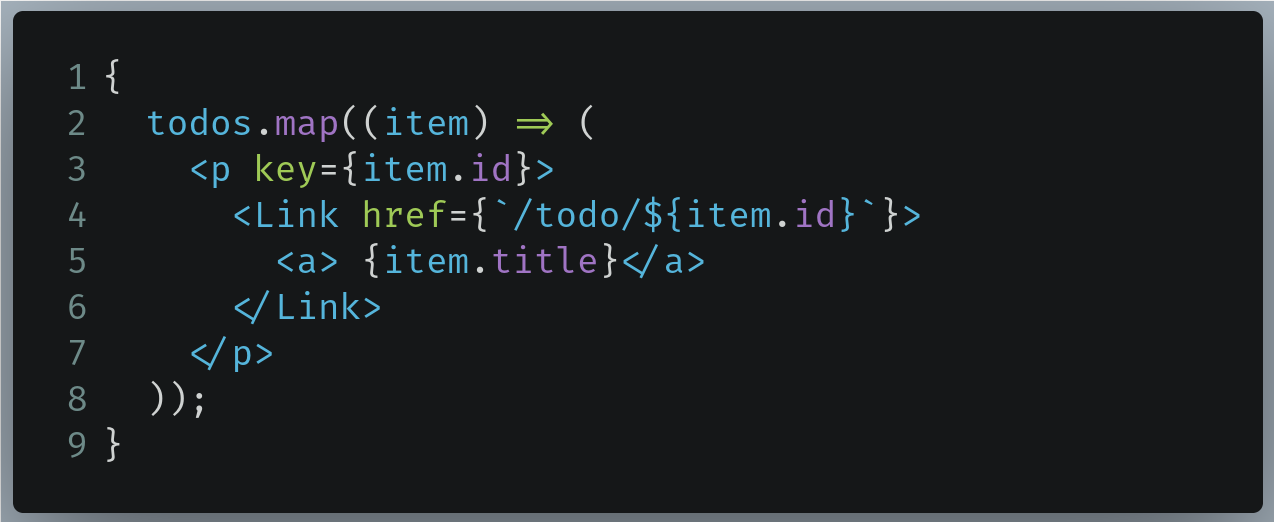Code to replace with in /pages/index.js