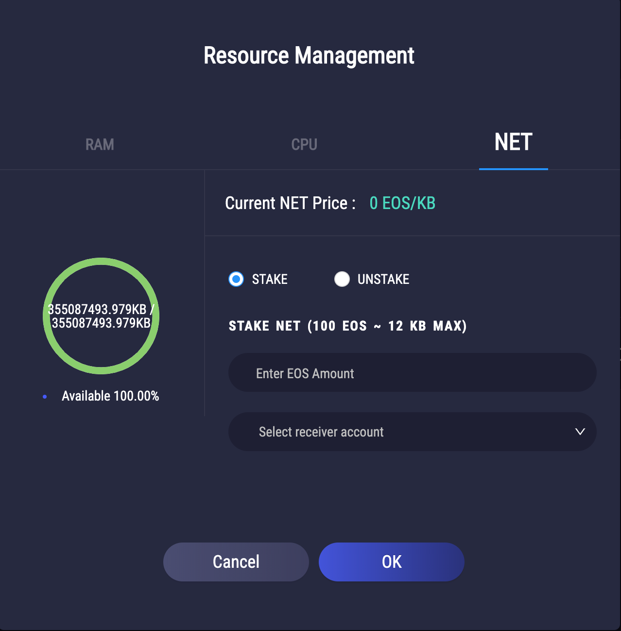 Resource Management Page