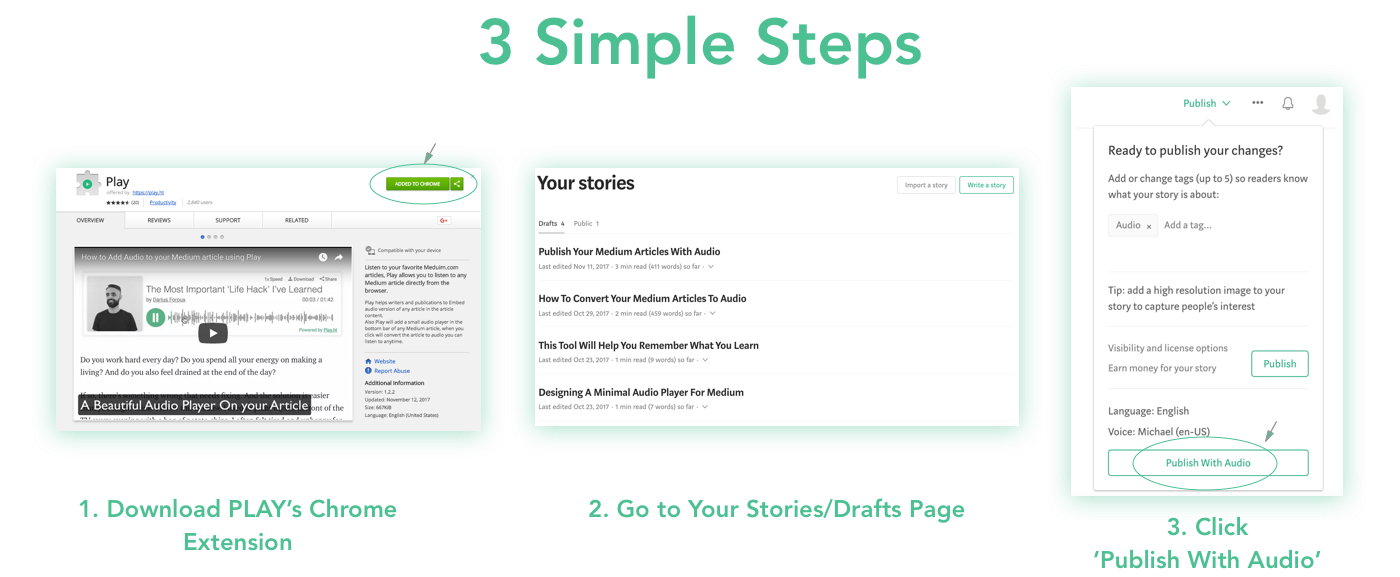 Turn Your Medium Stories into Audio Podcasts