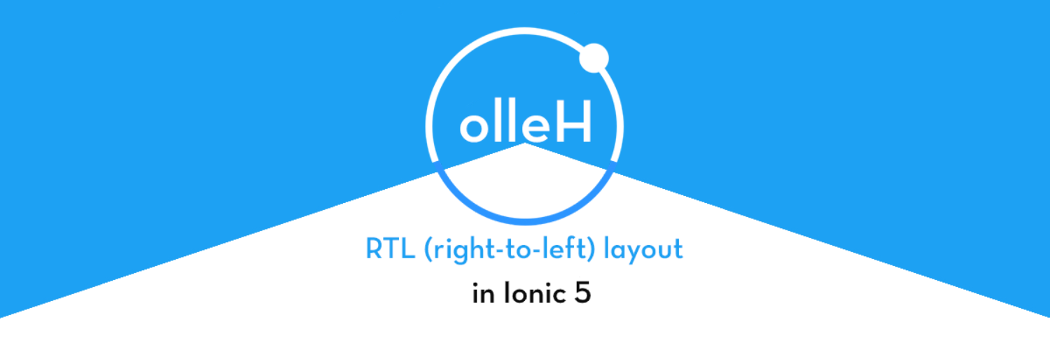 How to use RTL (right-to-left) in Ionic 5