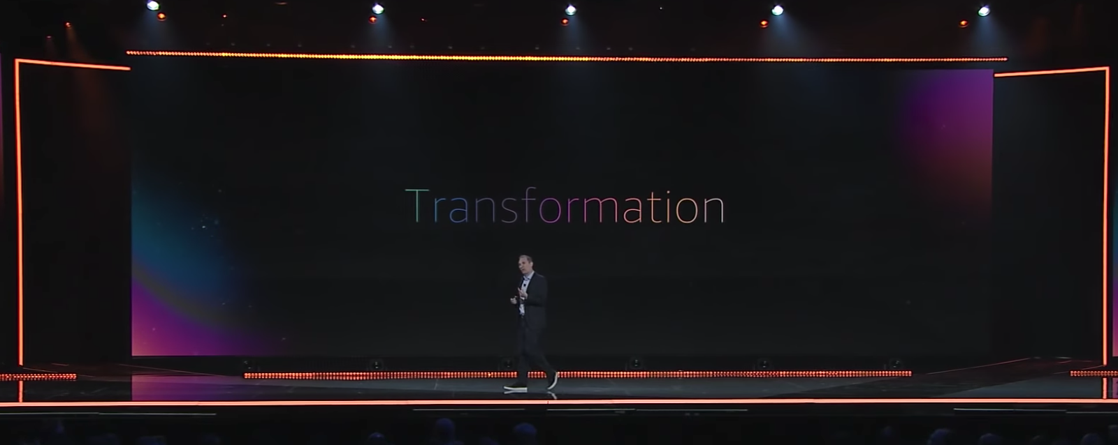 AWS CEO Andy Jassy's Keynote pushed full-migration and transformation as a key theme.