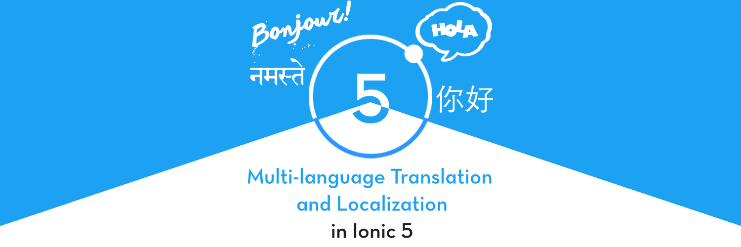 How to translate in Ionic 5- Internationalization and Localization
