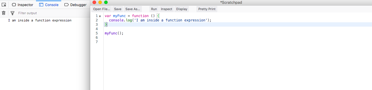 Function expressions way to run