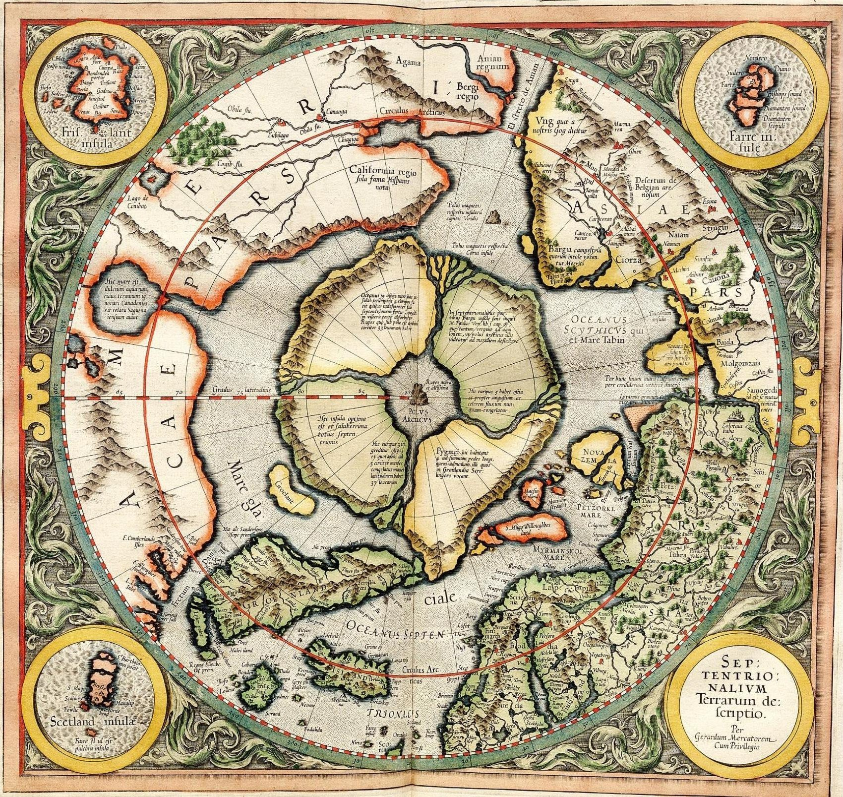 Arctic Circle Russia Map.This Gorgeous Map From 1595 Is The Key To Understanding Russia S