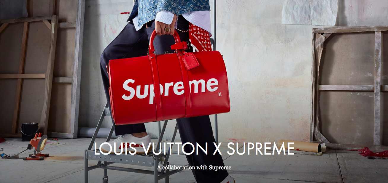 0f29c907dba Supreme x Louis Vuitton   The influence of Supreme in the resurgence of  legacy logos.