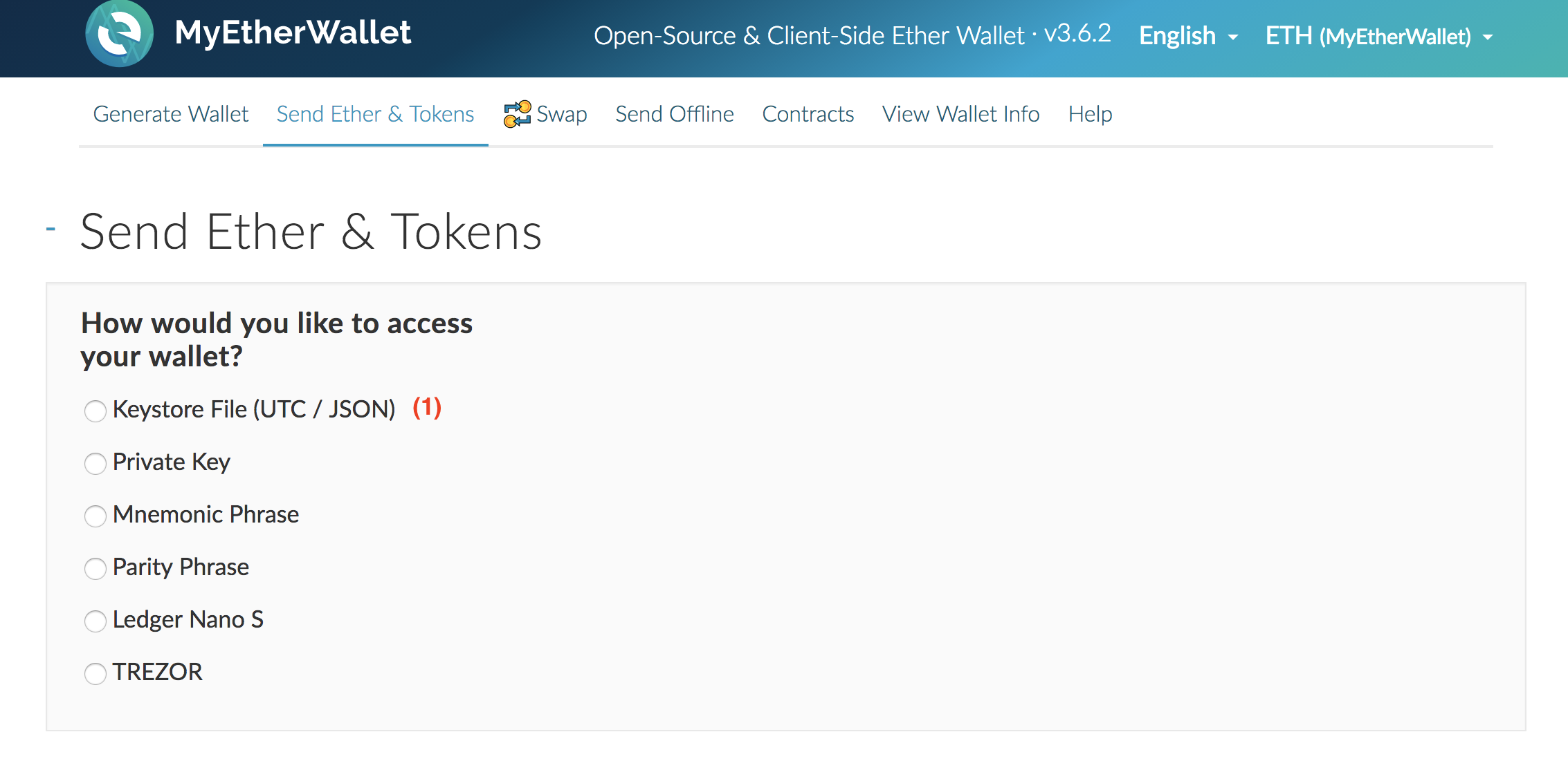 Any Addresses In Receive Tab Electrum Myetherwallet Ad