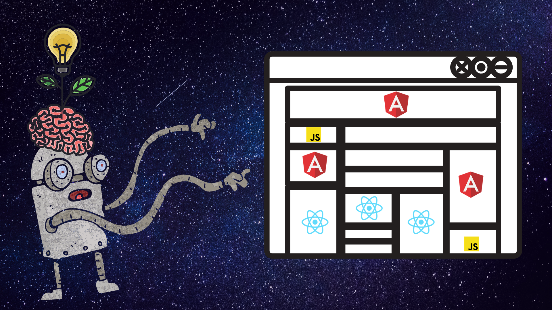Which is better for your next app—Angular or React? Why not both?