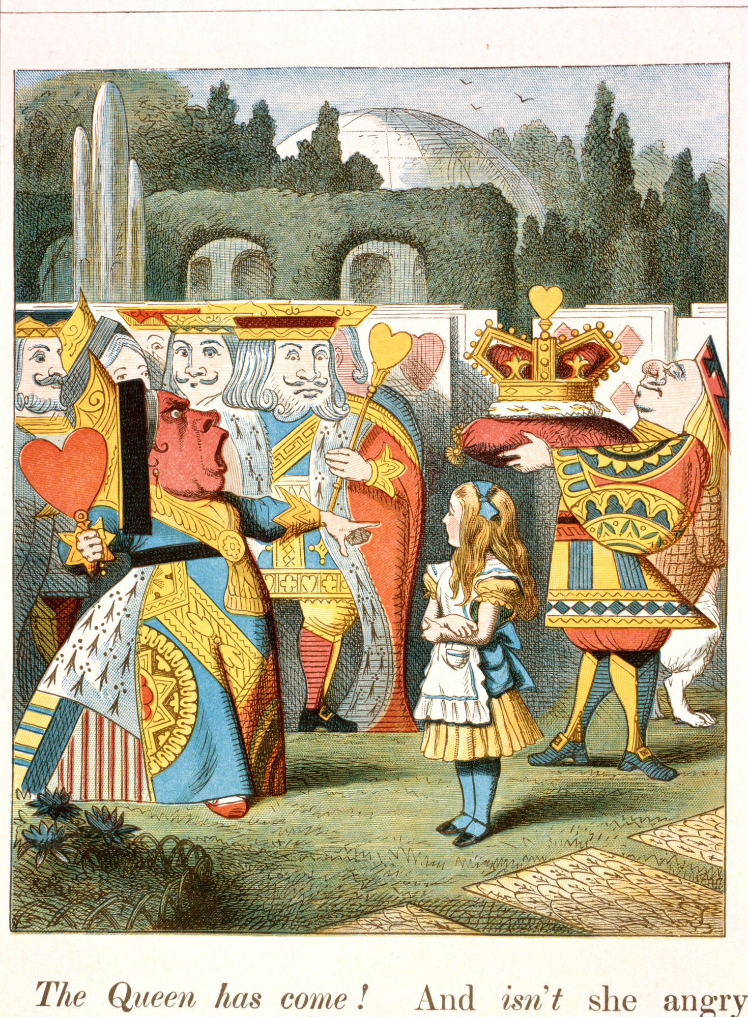 "b23adbb789 John Tenniel colour illustration from ""The Nursery Alice"" 1890 edition via  Wikimedia Commons"