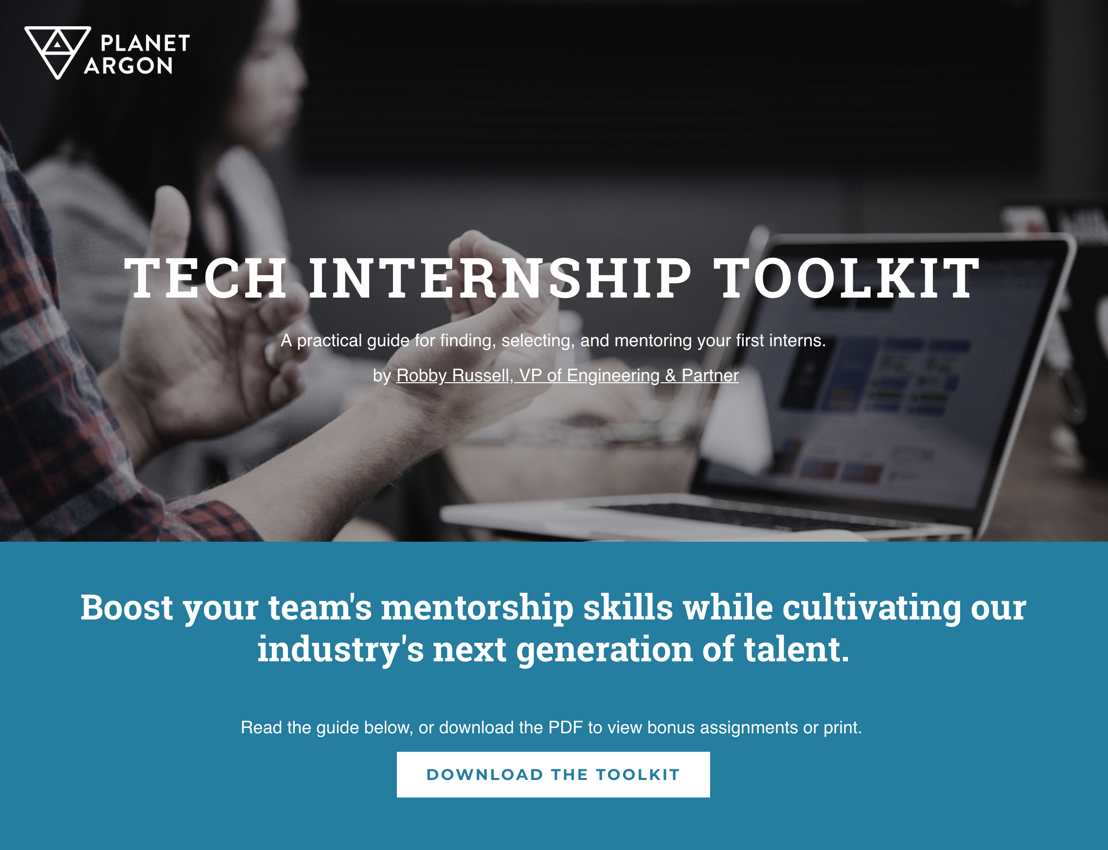 My Birthday Gift To You The Planet Argon Tech Internship Toolkit