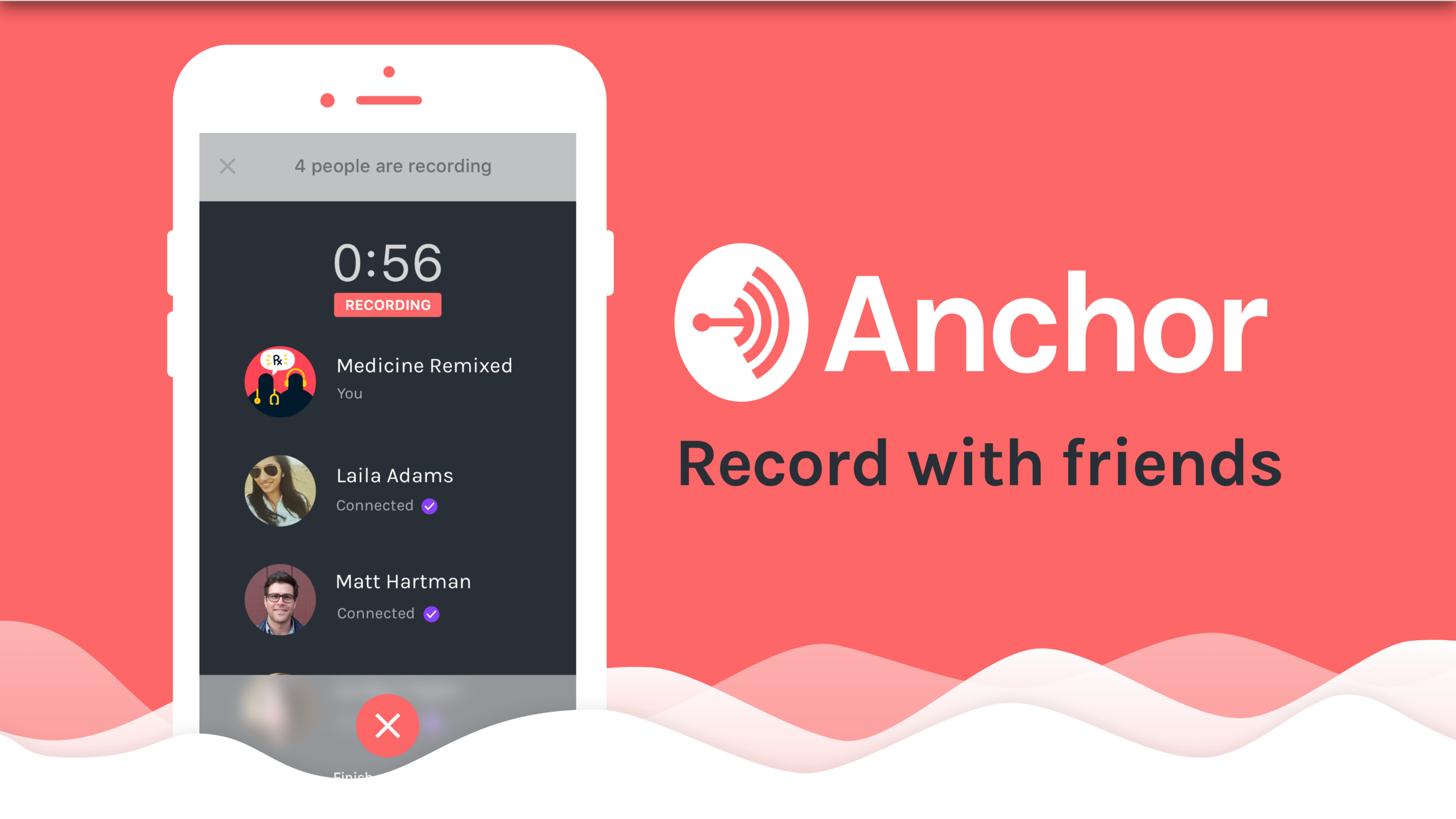 Introducing Record With Friends Anchor Medium Simple Telephone Recorder