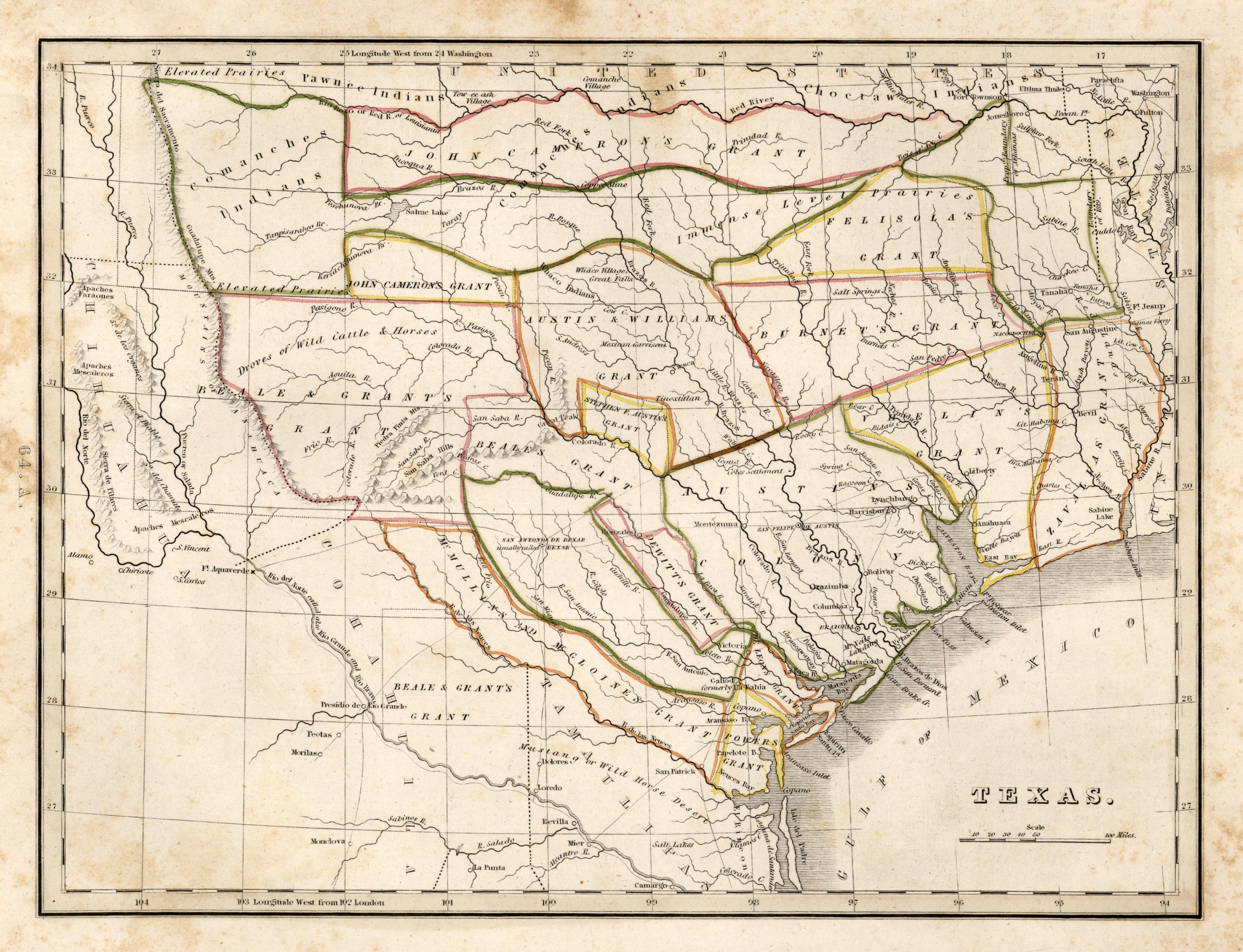 Map Of Texas During The Alamo.1835 The Summer Of Discontent The Alamo Medium