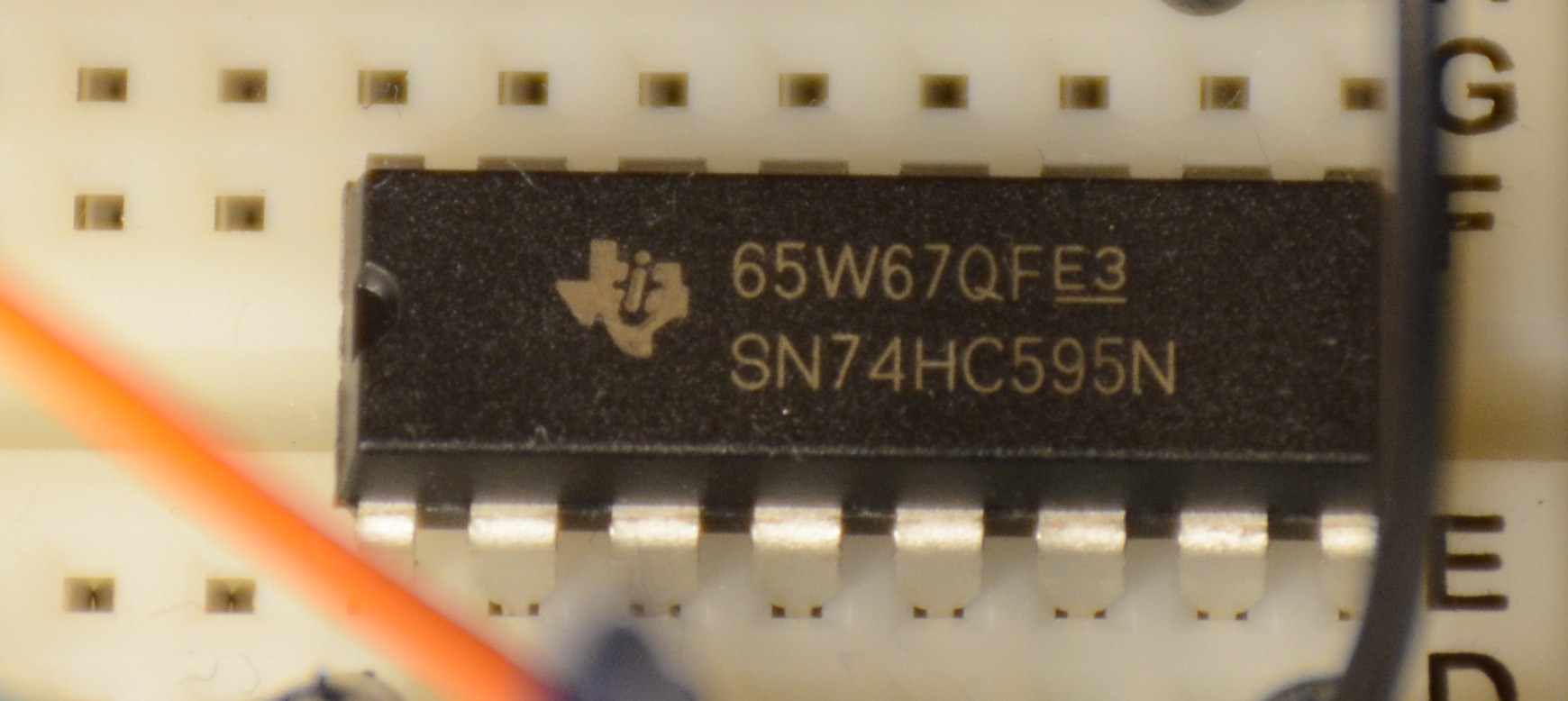 Using A 74hc595 To Control Led Matrix Arduino Playground Medium Colorshifting Show Circuit Ledandlightcircuit Setting Up Can Quickly Get You Out Of Pins Do Other Things With Your One Way Overcome This Is Use Shift Register