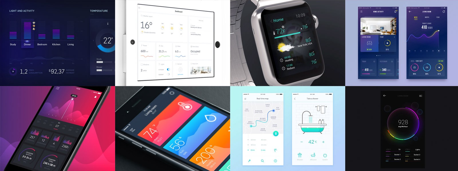 30 inspiring examples of smart home app muzli design - Design your home app ...