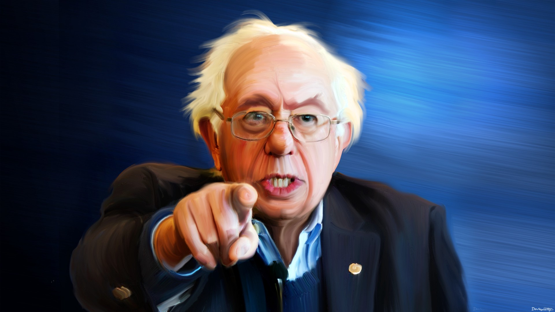 Image result for bernie sanders pointing