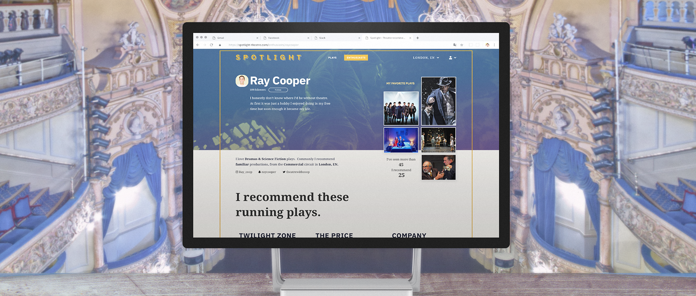 Spotlight: a web platform to promote theatre with a younger audience—a UX case study