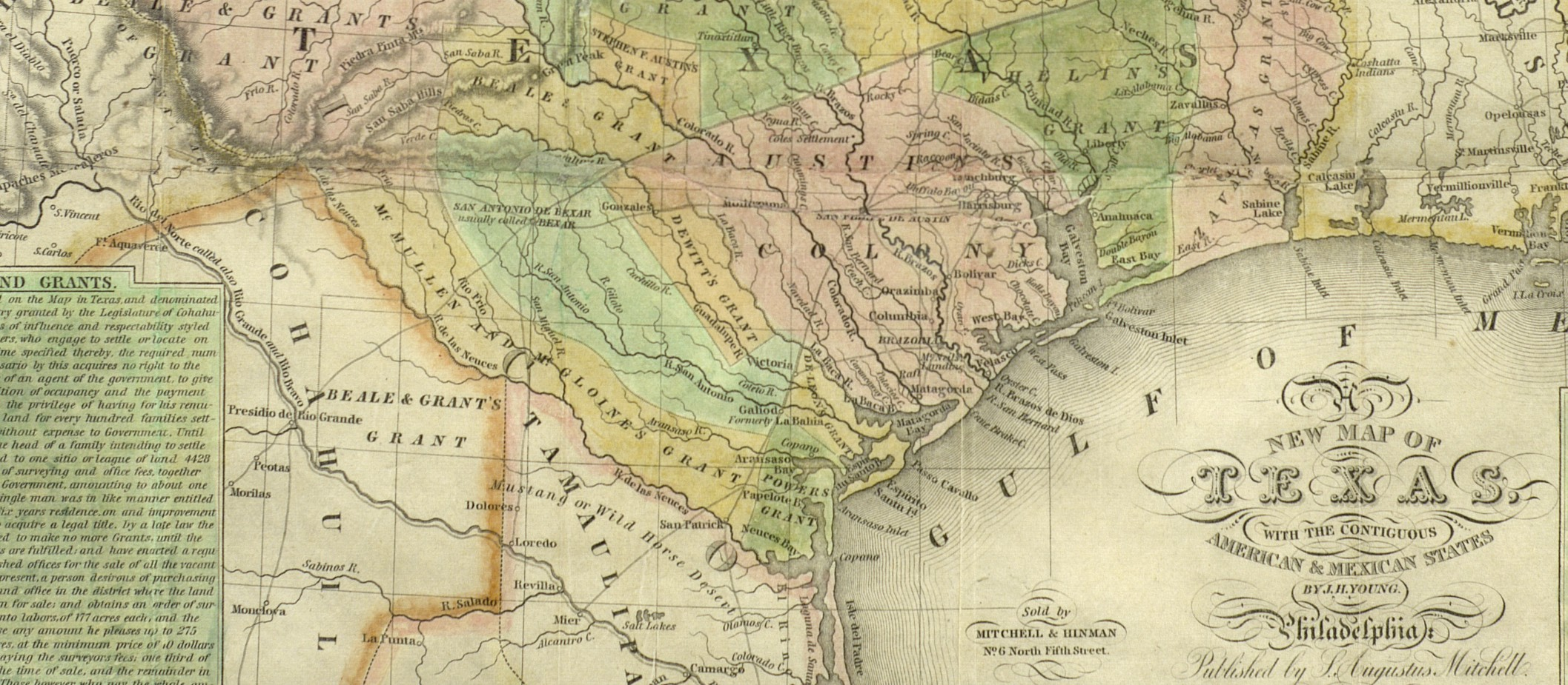 A New Map of Texas with the Contiguous American & Mexican States, 1835