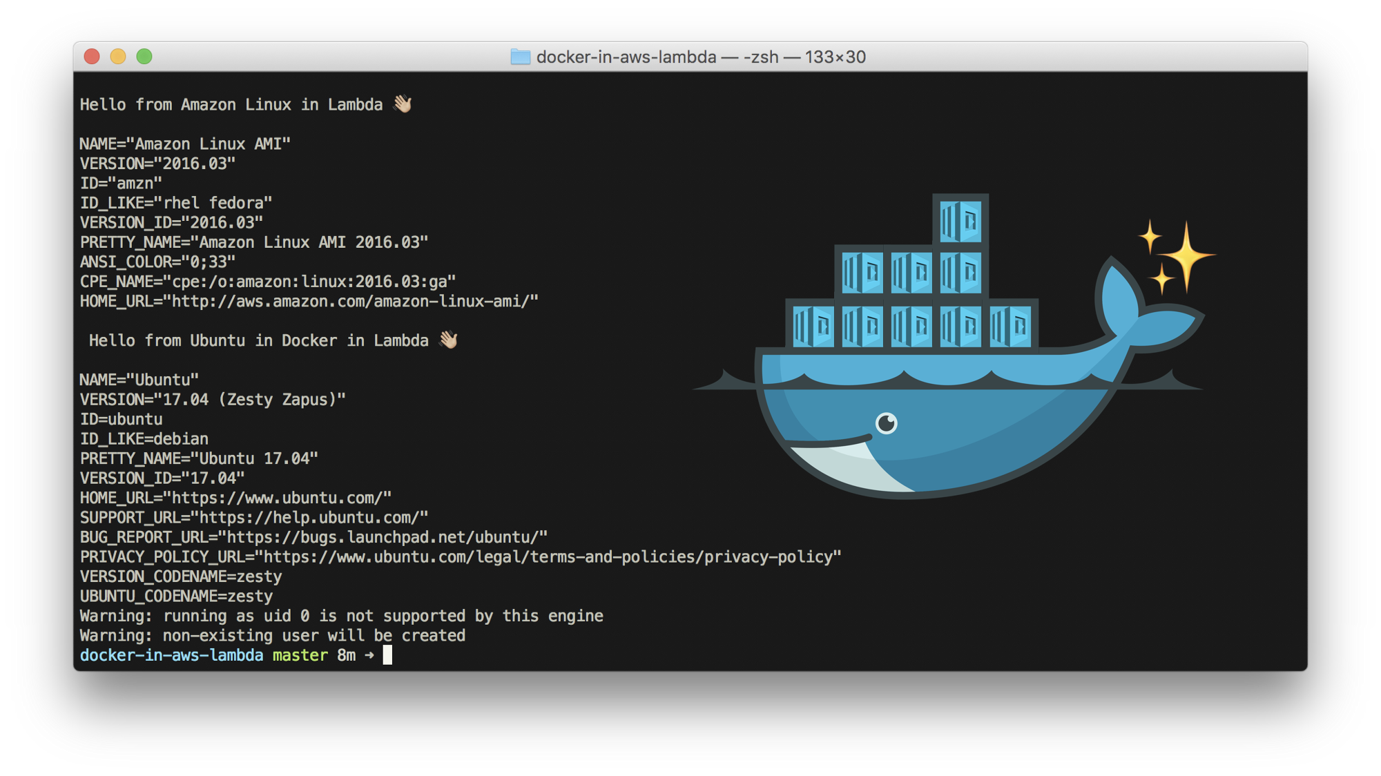 docker running containers
