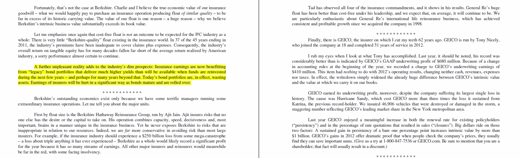 highlights from warren buffetts annual letter mike king