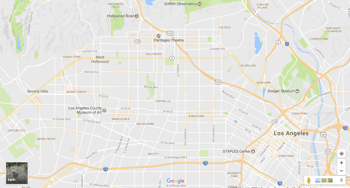 Bad Areas Of Los Angeles Map.Earth Is Just One Really Big Google Map The Awl Medium