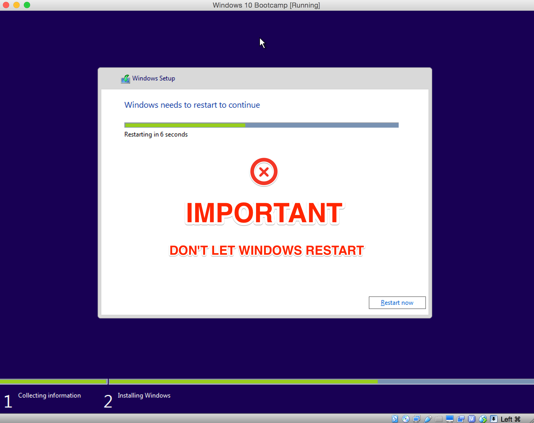 bootcamp says windows 10 not supported