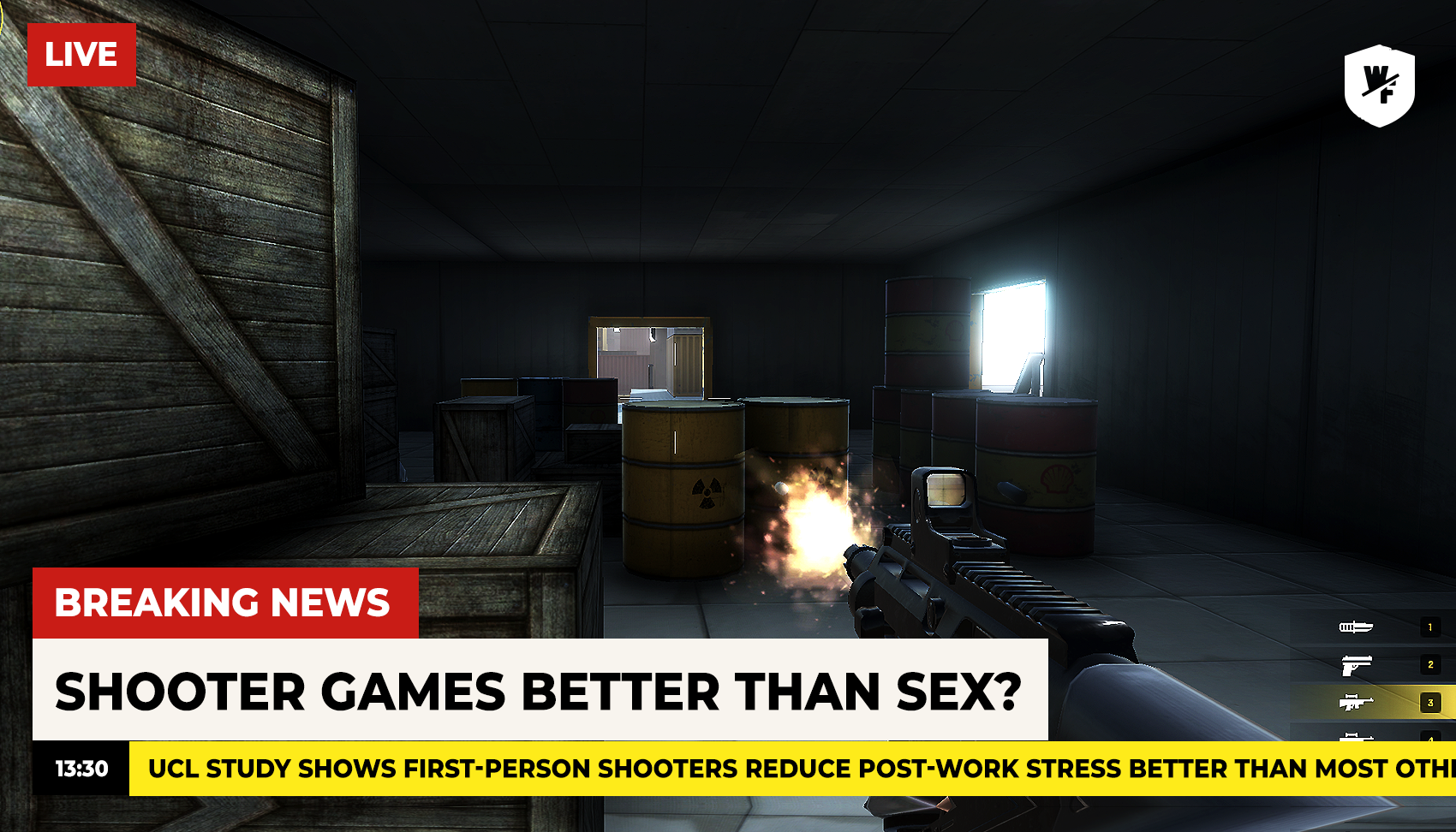 A good shooter game with sex