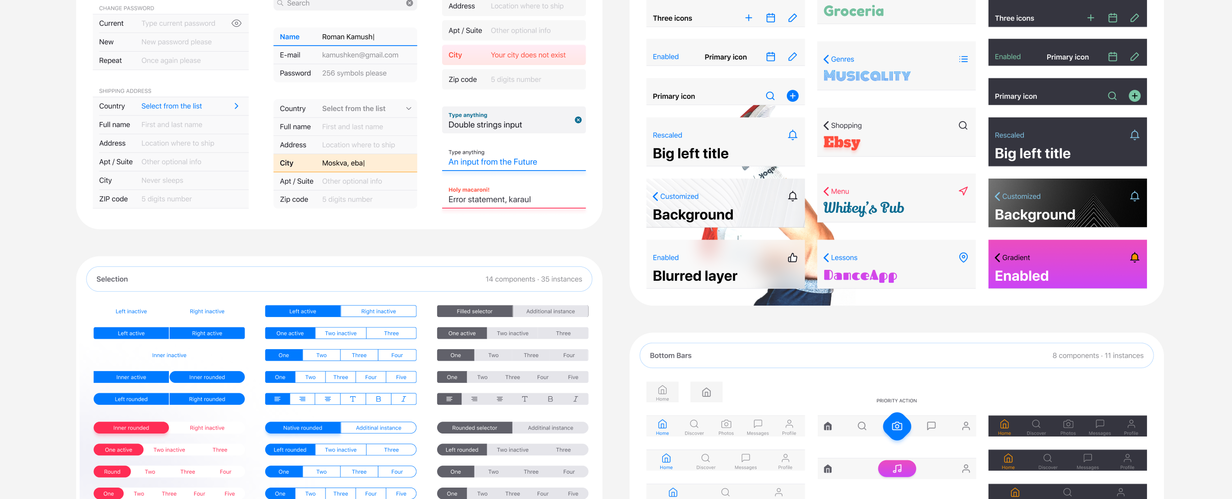 Designing For Iphone In Figma Ios 12 Native Components Ui Styles