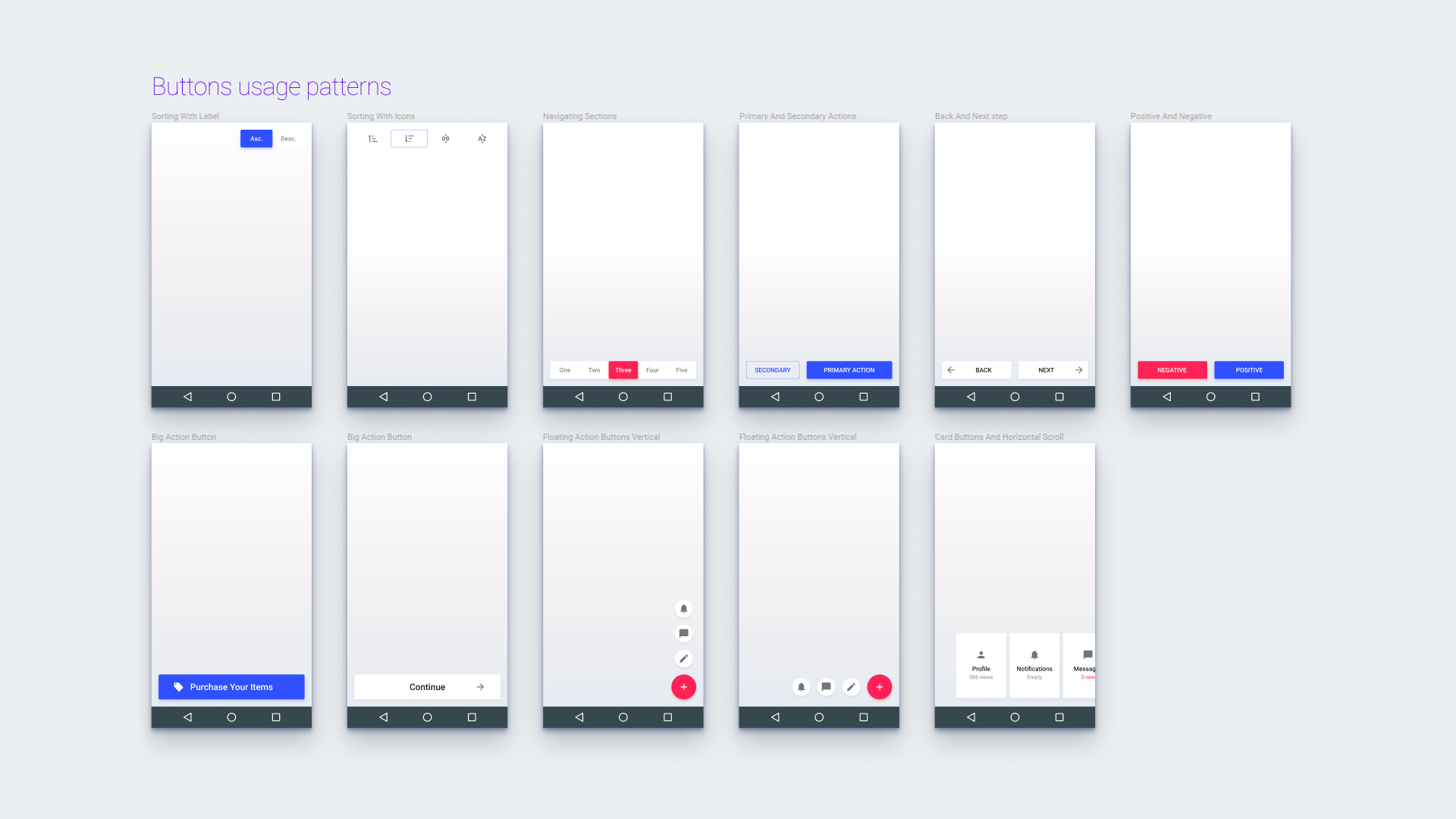Material design prototyping components