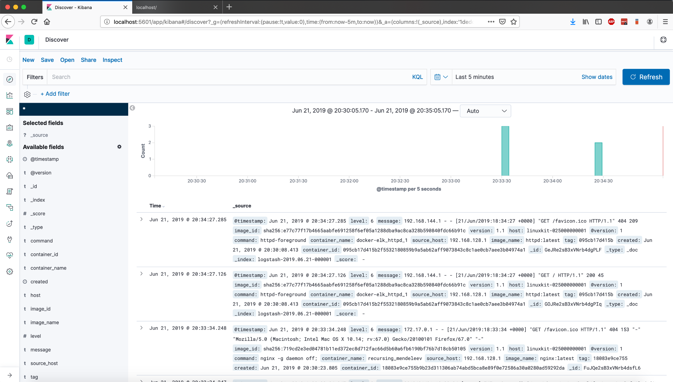 Deploy ELK stack in Docker to monitor containers