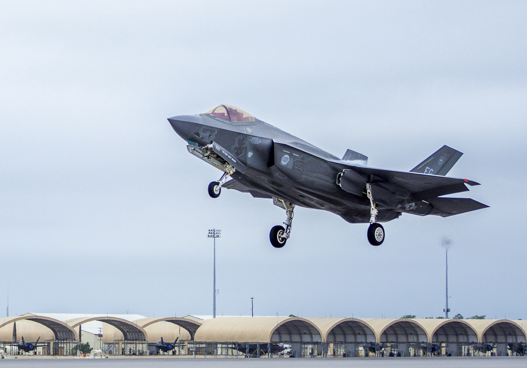 850afdc7f0254 An F-35A takes off from Eglin Air Forece Base in Florida on Feb. 27, 2017. U.S.  Air Force photo