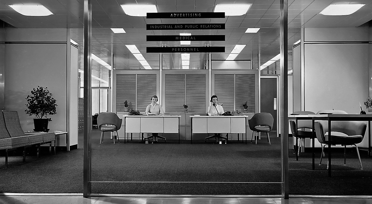 Interior of the inland steel building designed by som circa 1959 photo hedrich blessing