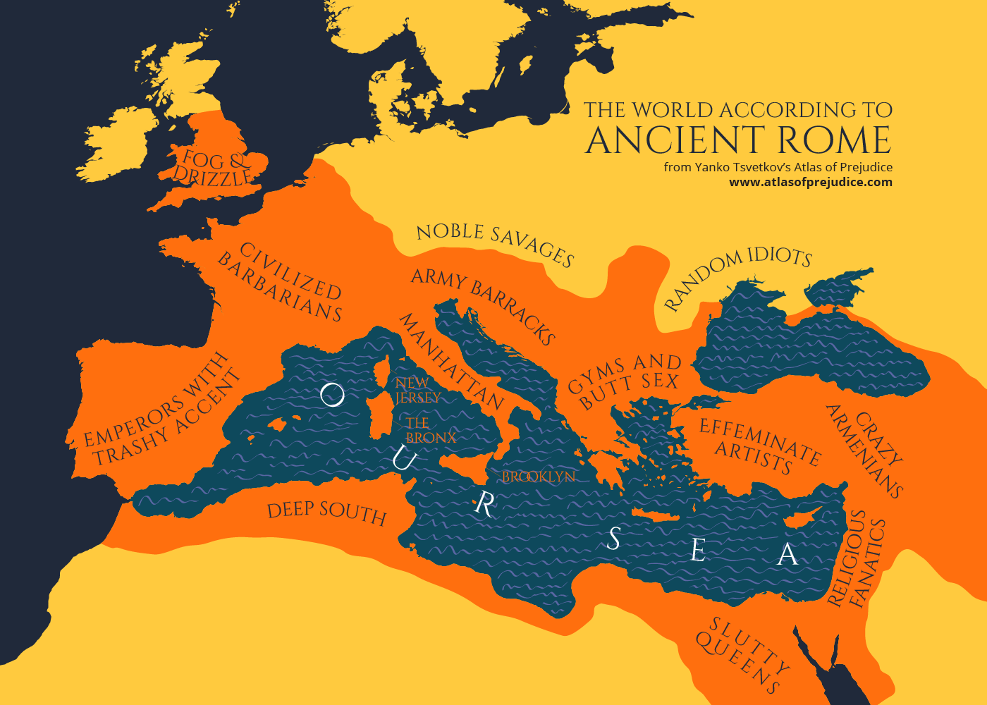Ancient Roman Map Of The World.The World According To Ancient Rome Atlas Of Prejudice