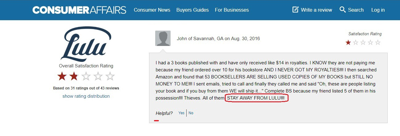 37f1b60b8ac33c SCAM ALERT! Stay Away From Lulu: How to Self-Publish a Book — Part 5