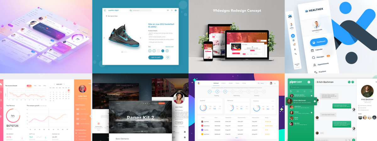 🏆 Best of Web Design in August 2017 – Design, Code and Prototyping