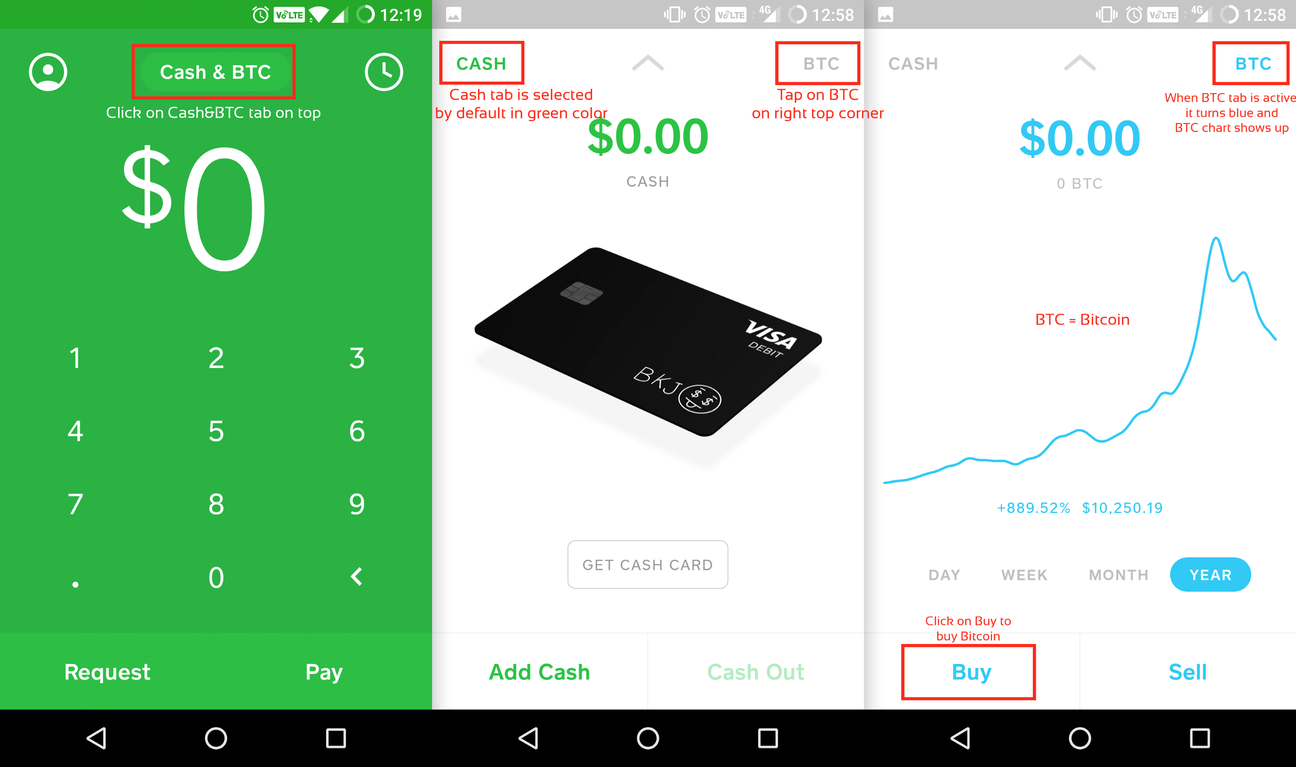 Can you receive bitcoin on cash app