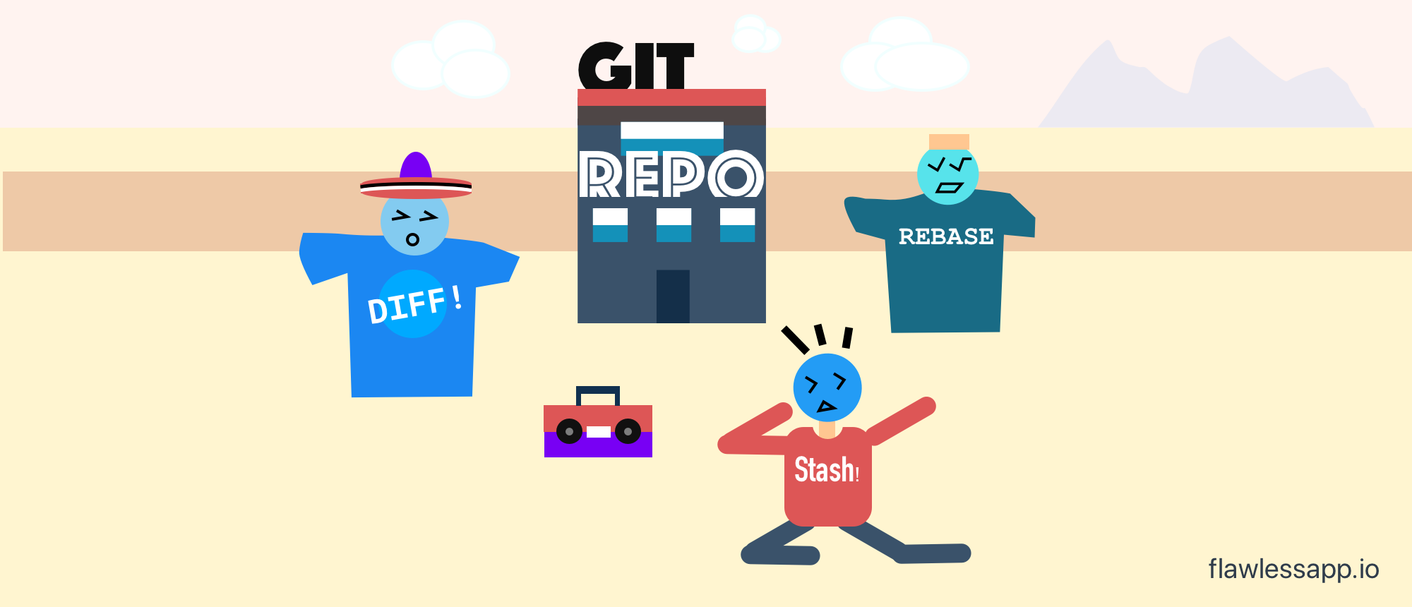 git revert one commit