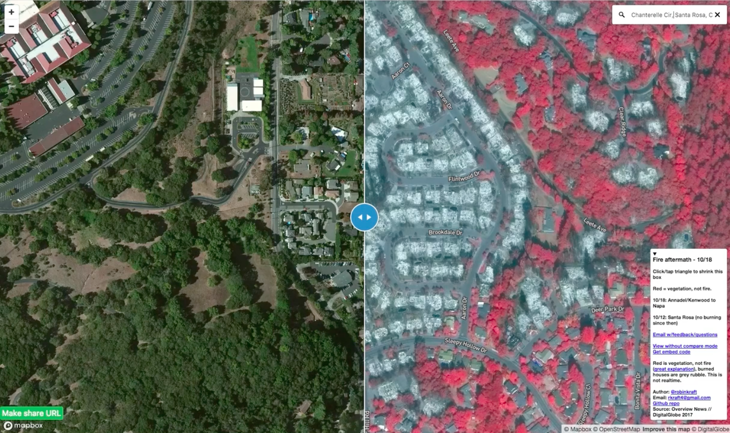Santa Rosa fire map: How I built it – Points of interest