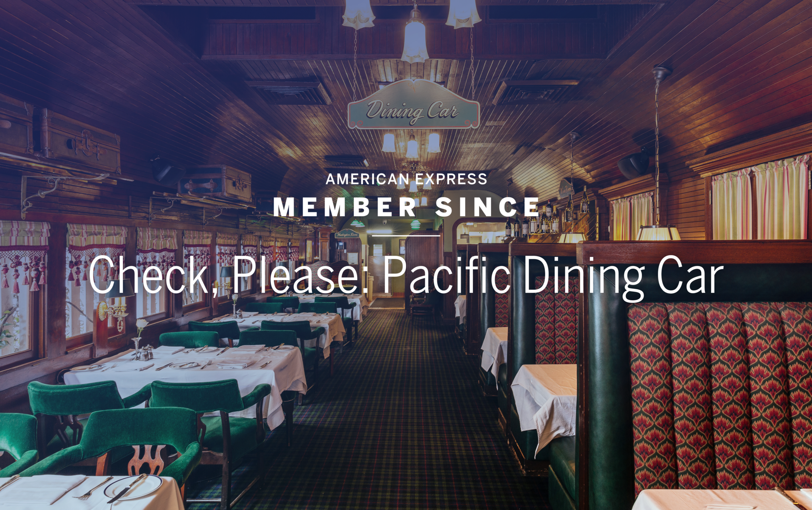 Check Please Pacific Dining Car & Check Please: Pacific Dining Car \u2013 Member Since