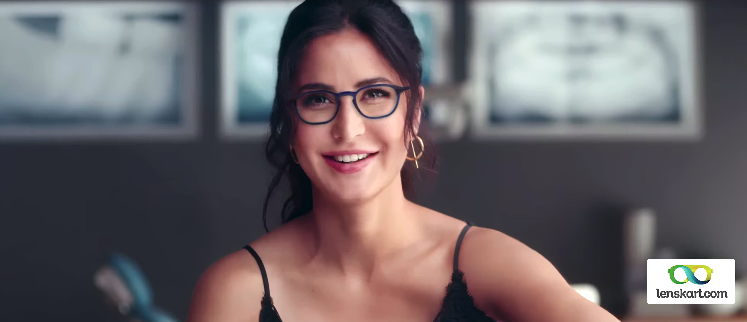 7bc560f6b1 Katrina Kaif screenshot taken from Lenskart advertisement video below