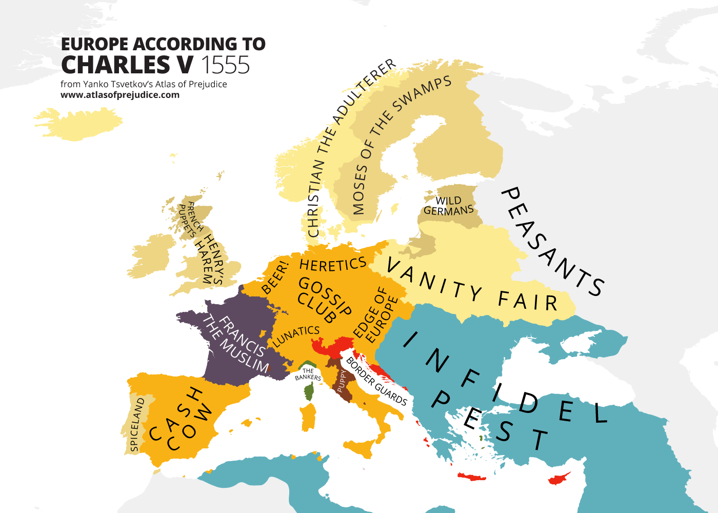 Map Of Europe In The 1500s.The European Age Of Incest Atlas Of Prejudice