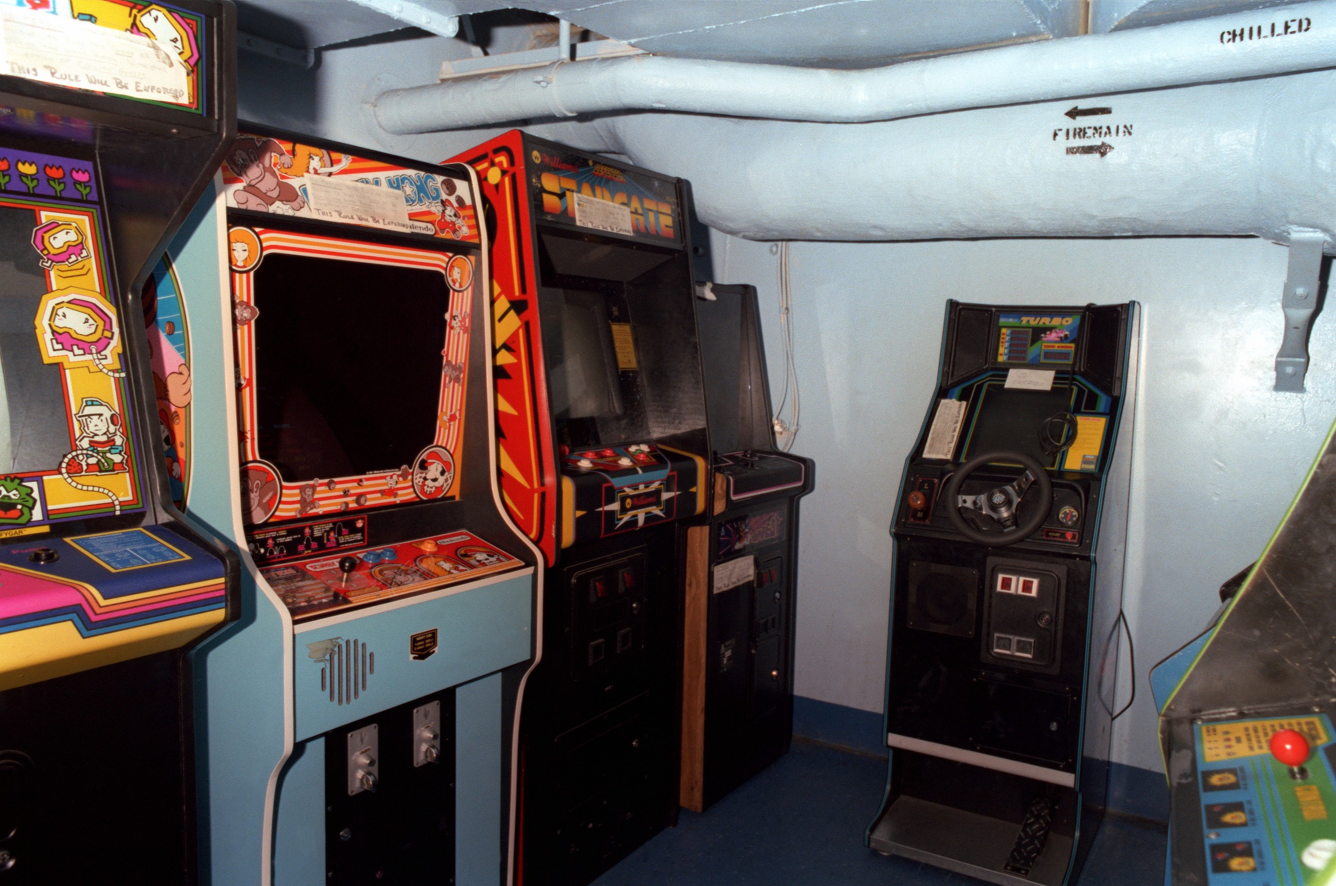 A Video Arcade Aboard The USS Enterprise Aircraft Carrier 1982 National Archives