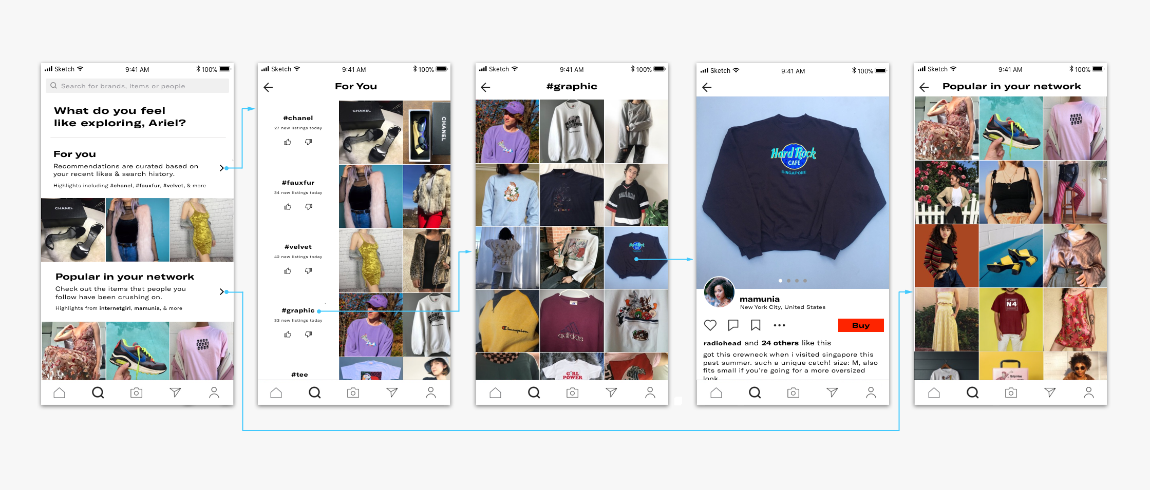 a6981d8d6 Depop Concept: Empowering the User to Define Their Own Exploration