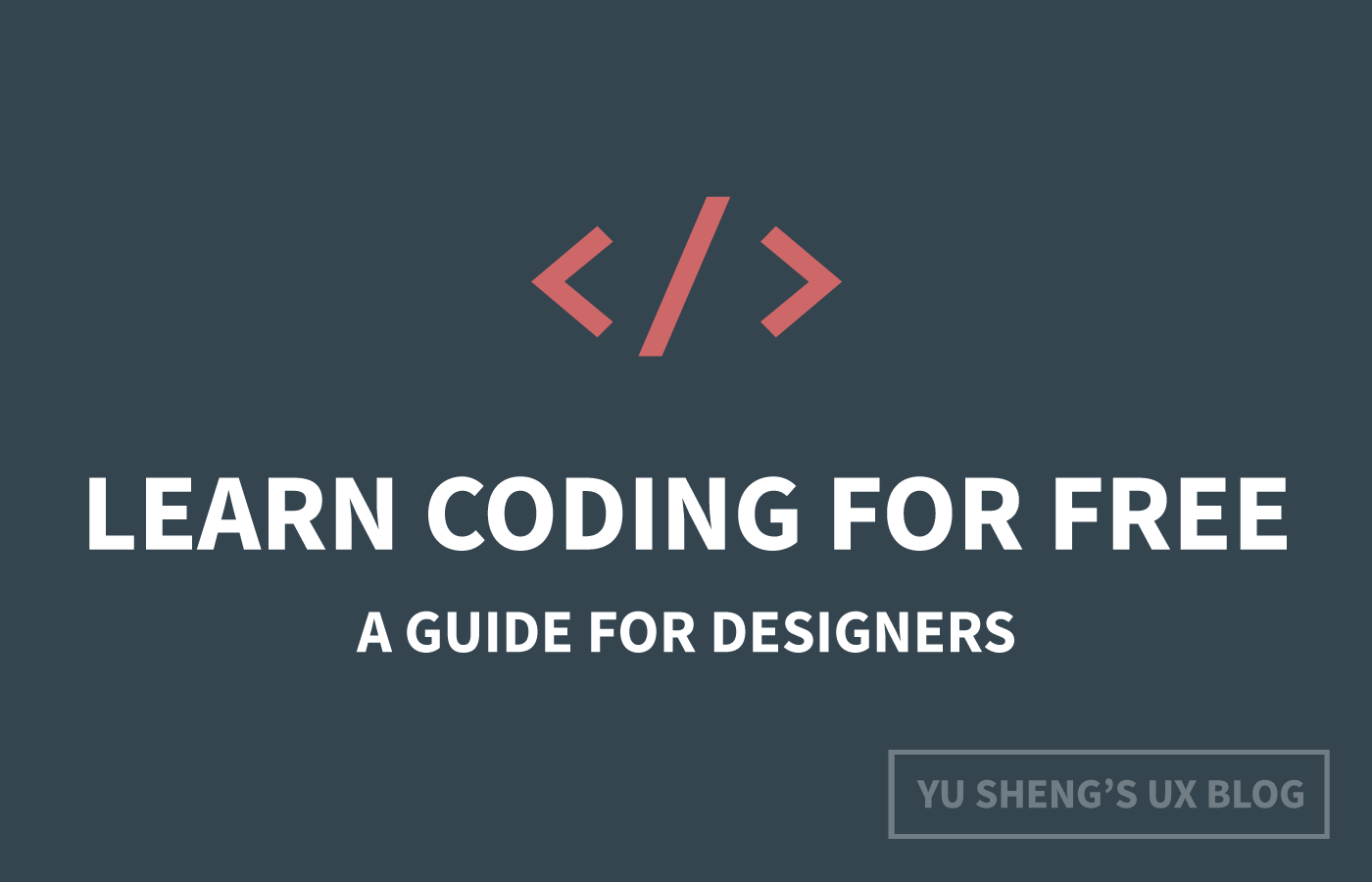 How to learn coding for free: A guide for designers