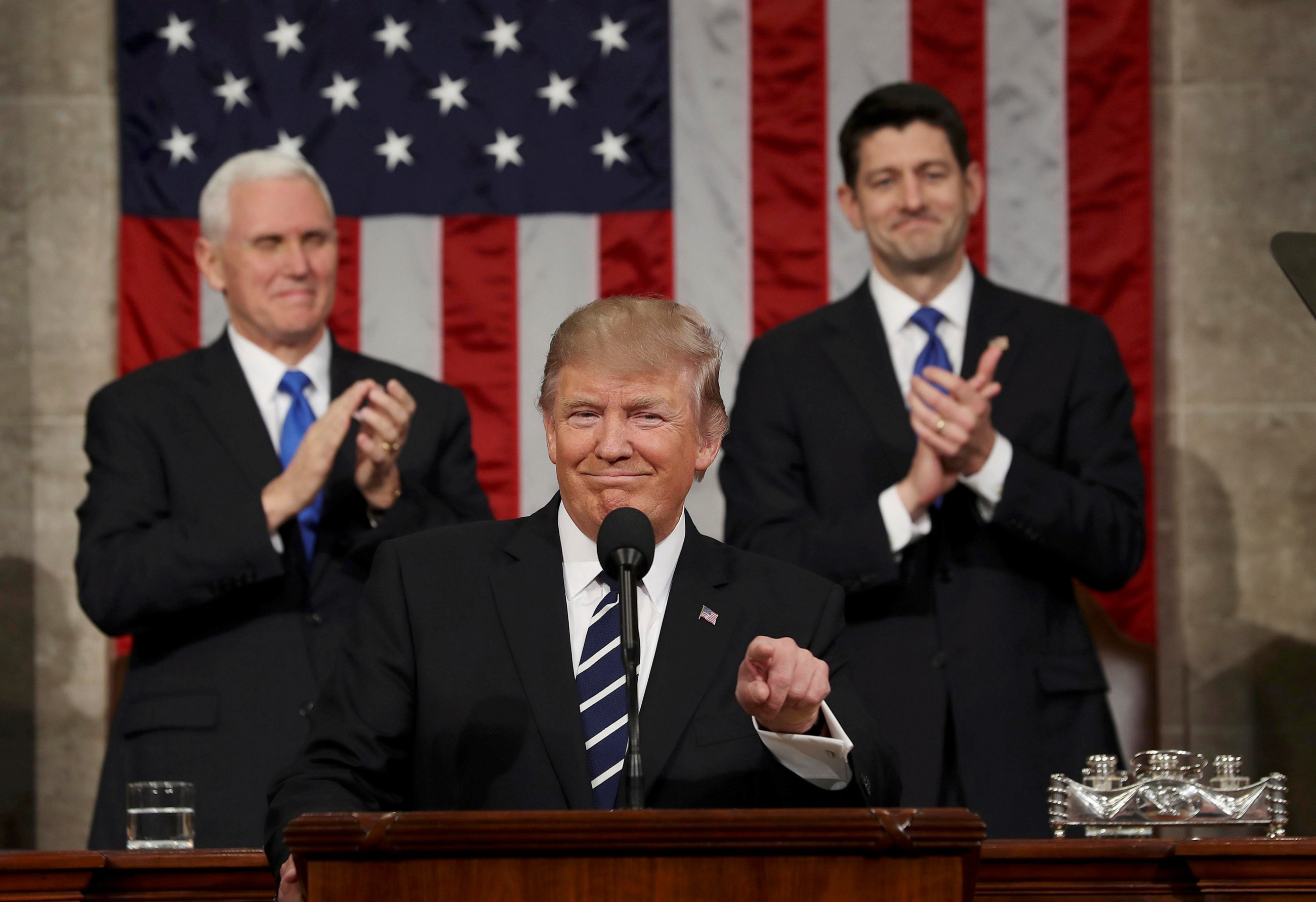 President Trump offers a more hopeful tone but few specifics