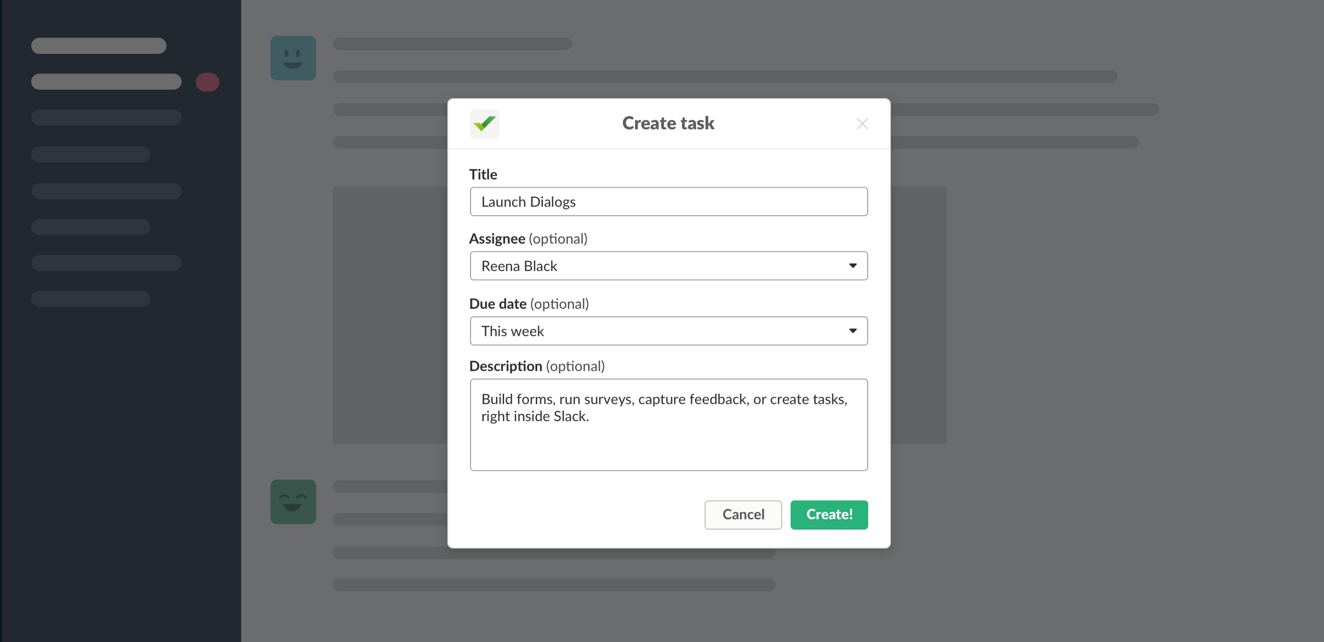 Building more intricate workflows in Slack with Dialogs