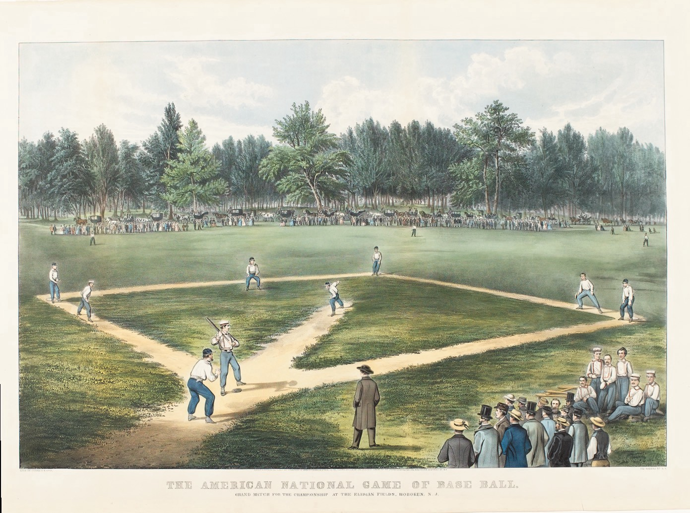 The American National Game Of Base Ball Currier And Ives 1866