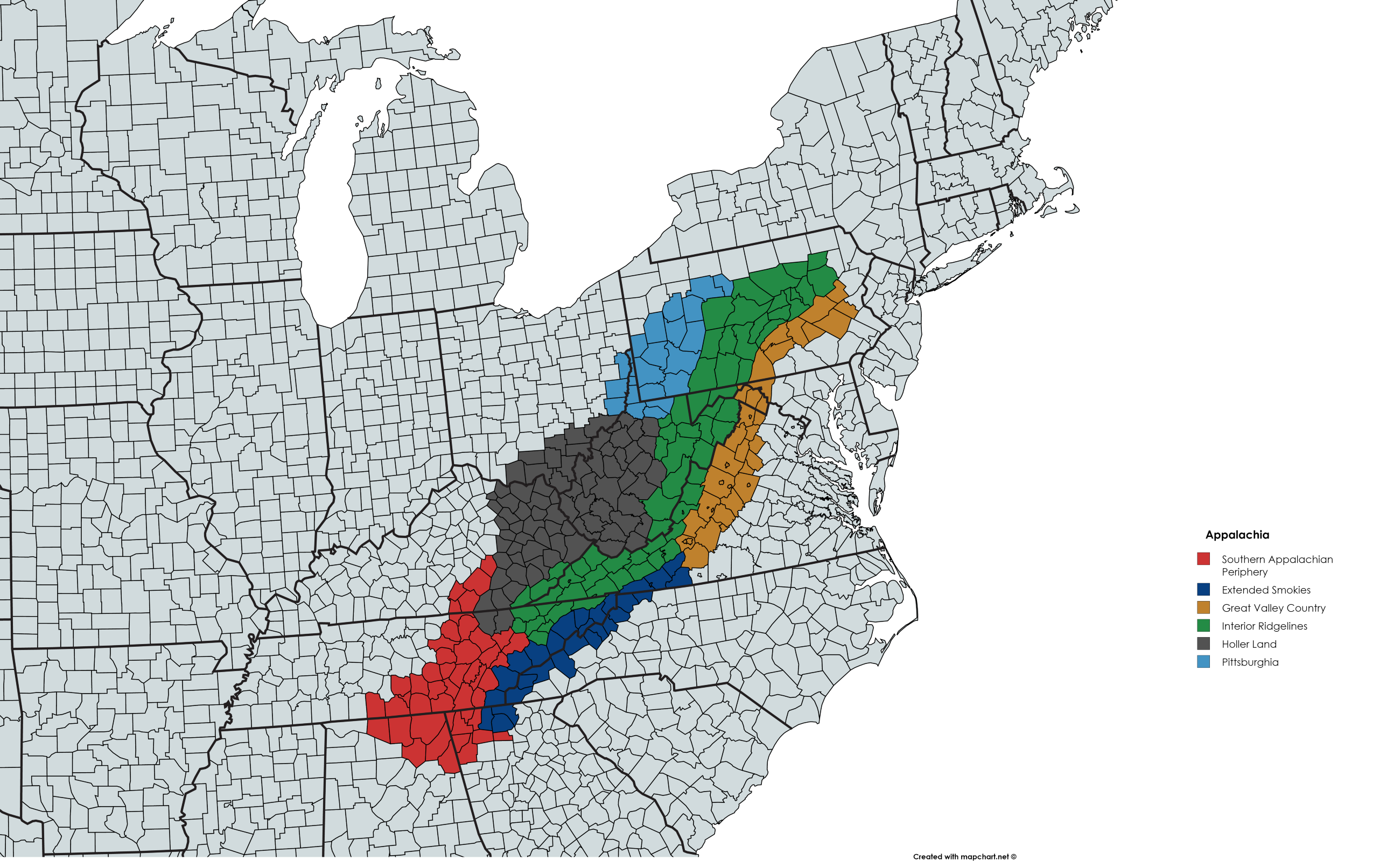 Where Is Appalachia In A State Of Migration Medium - Us-map-with-appalachian-mountains