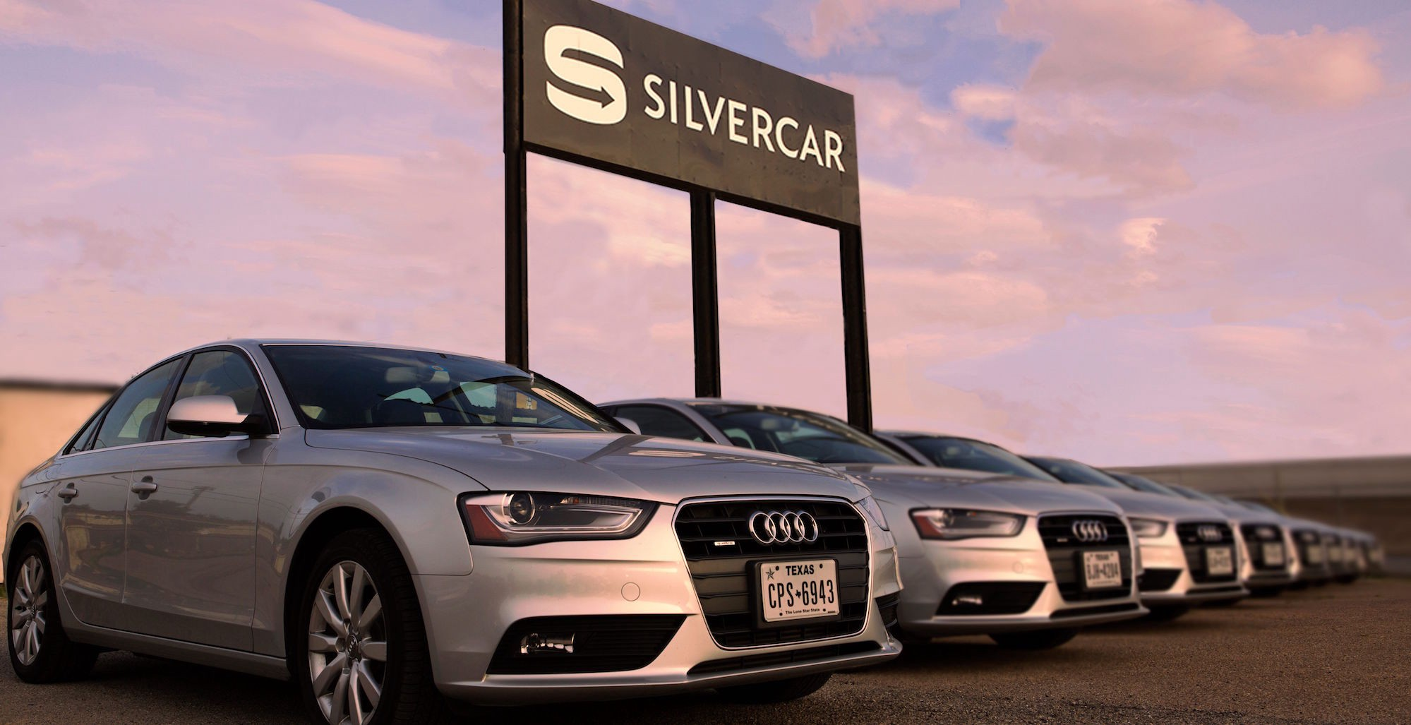 I Got Off The Plane And Headed Down To Al Car Shuttle Pickup Outside Of Dallas Love Field Opened My Phone C On Silvercar