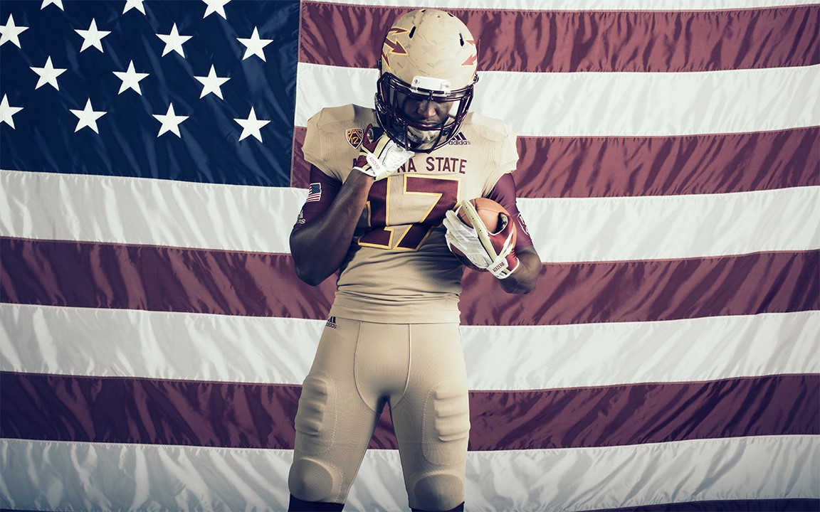 """d8a19787bd8 Arizona State unveils """"Brotherhood"""" adidas football unis honoring the late  Pat Tillman and US vets"""